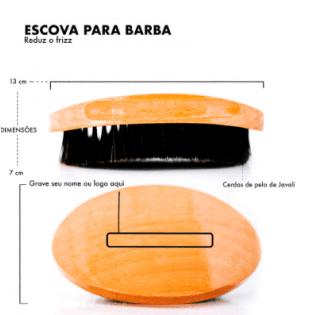 Escova de madeira para Barba