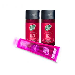 2 Másc. Pigm. Boto Rosa + Condicionador Colorido Salamandra Mexicana