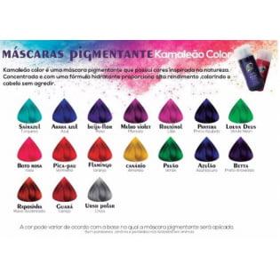 Máscara Pigmentante Azulão Kamaleão Color Azul Escuro